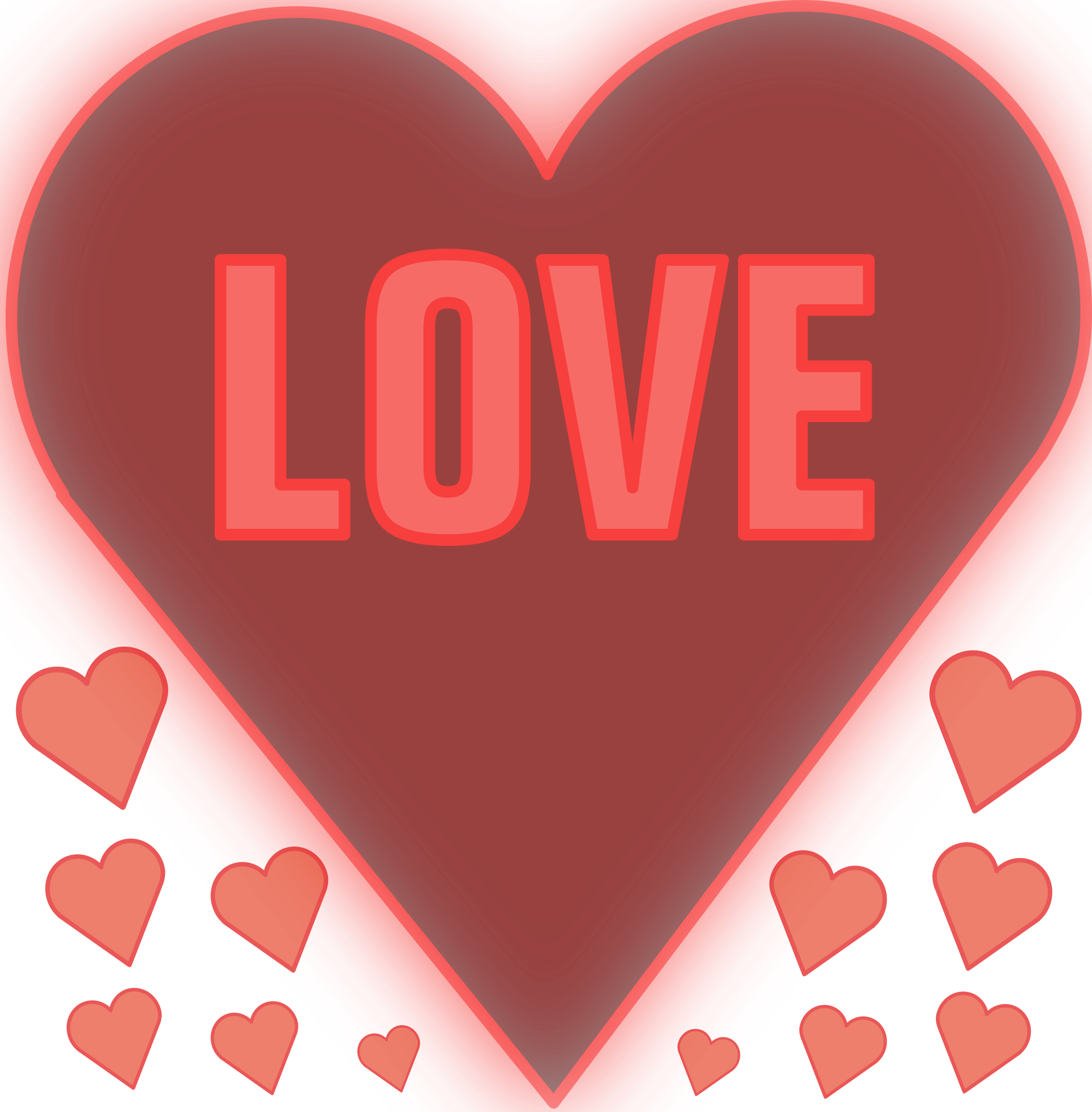 A heart clipart svg transparent Clipart - Love in a heart svg transparent