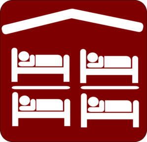 A hostel clipart image library Hut Hostel Cheap Inexpensive Sleeping Accomodation Clip Art - Red ... image library