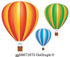 Clipart hot air balloons royalty free stock Hot Air Balloon Clip Art - Royalty Free - GoGraph royalty free stock