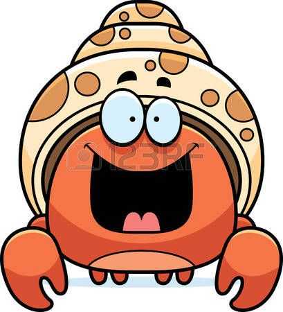 Clipart hermit crab image black and white cartoon hermit crab: A cartoon illustration of a hermit crab looking ... image black and white