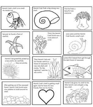 A house for hermit crab clipart jpg freeuse A House For Hermit Crab by Eric Carle Sequencing Text Structure ... jpg freeuse