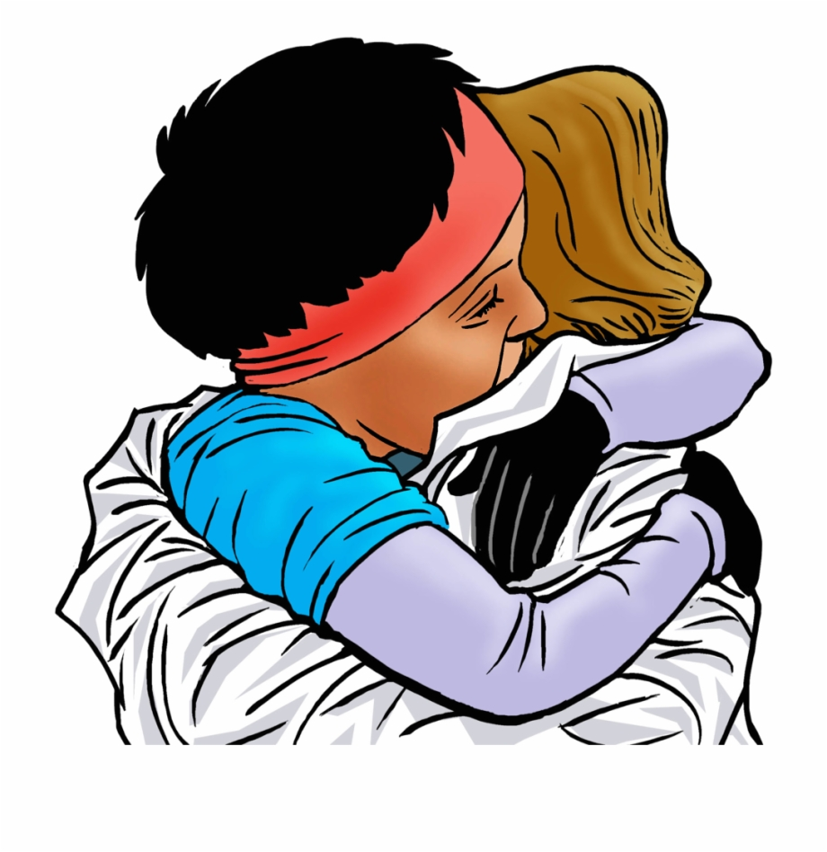 A hug for you to thank you clipart svg free stock Kiss Clipart Thank You - 2 People Hugging Clipart Free PNG Images ... svg free stock