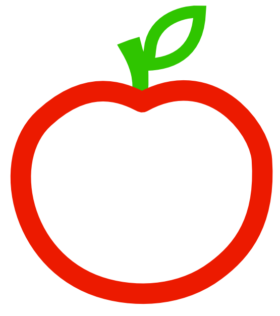 A is for apple clipart image free stock Apple Clipart Black And White | Clipart Panda - Free Clipart Images image free stock