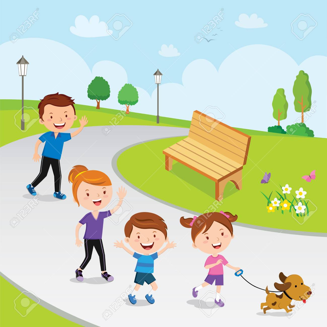 A kid going to the park with their family clipart jpg transparent library Free Family Clipart park, Download Free Clip Art on Owips.com jpg transparent library