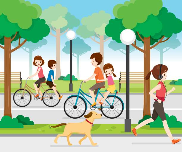 A kid going to the park with their family clipart svg stock Families clipart park - 101 transparent clip arts, images and ... svg stock
