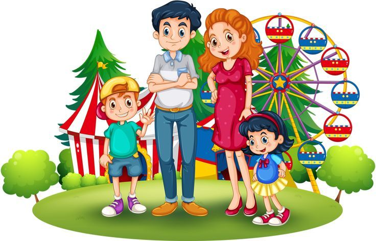A kid going to the park with their family clipart png library download ♛ Christine Staniforth ♛༻ | Family | Family drawing, Painting for ... png library download