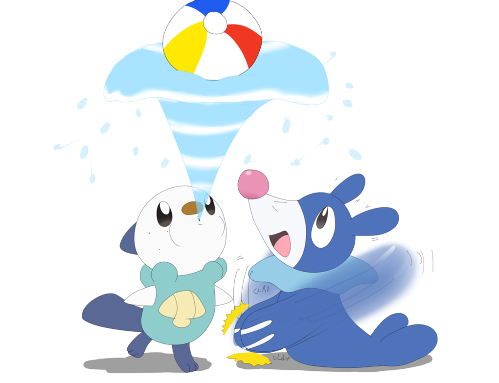 Fun in the sun people clipart picture library download Oshawott and Popplio having fun together | Pokémon Sun and Moon ... picture library download