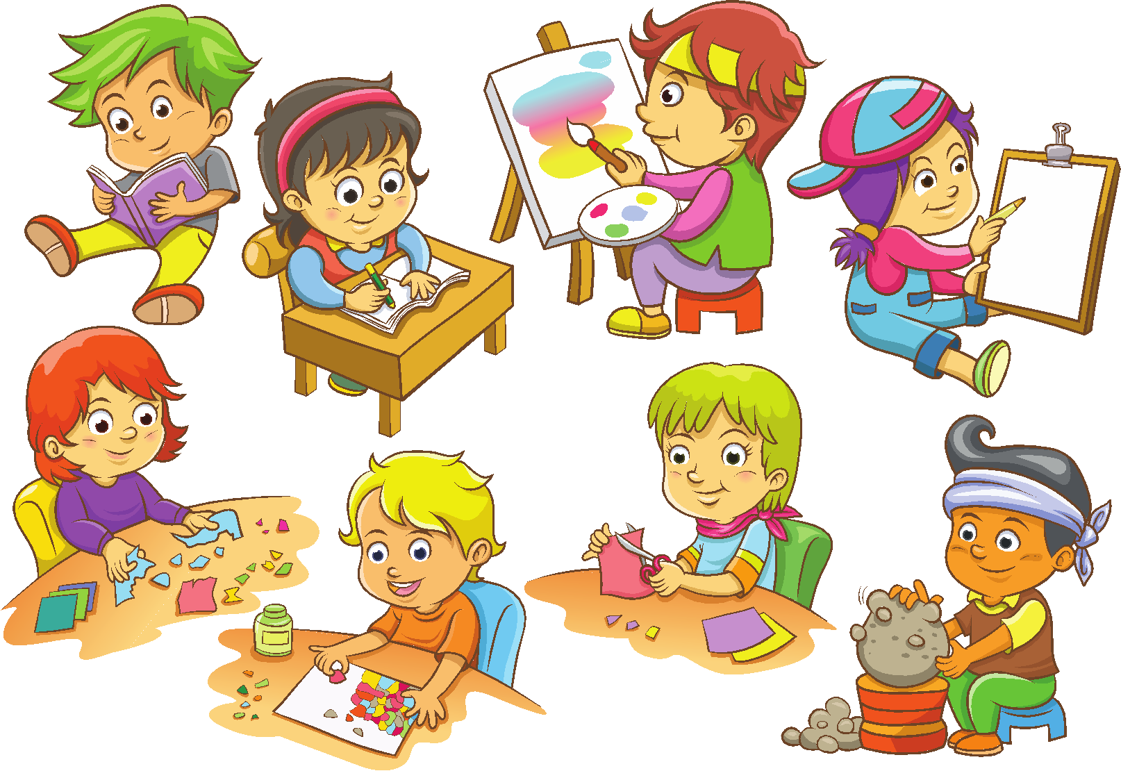 Kid having fun in the sun clipart black and white library 50 Fun Activities For Kids To Do @ Home In Summer - Golfedge black and white library