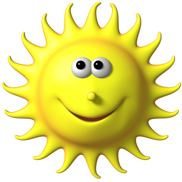 Kid having fun in the sun clipart clip royalty free library Stickers for Kids funny sun clip royalty free library