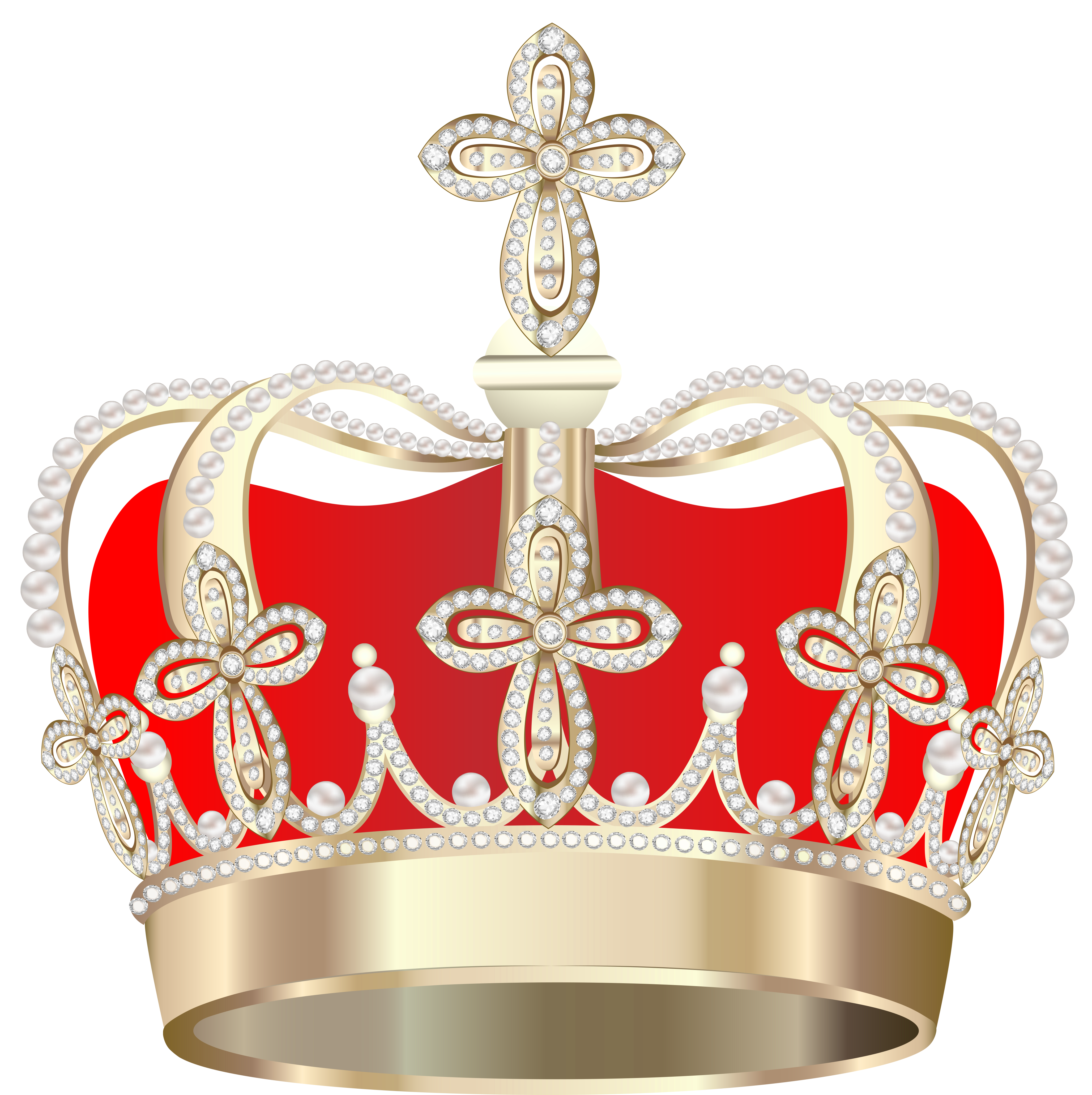 Red crown clipart transparent image black and white Transparent Crown PNG Picture | Gallery Yopriceville - High-Quality ... image black and white