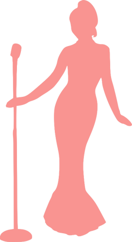 A lady singing clipart jpg freeuse library Lady singing | Public domain vectors jpg freeuse library