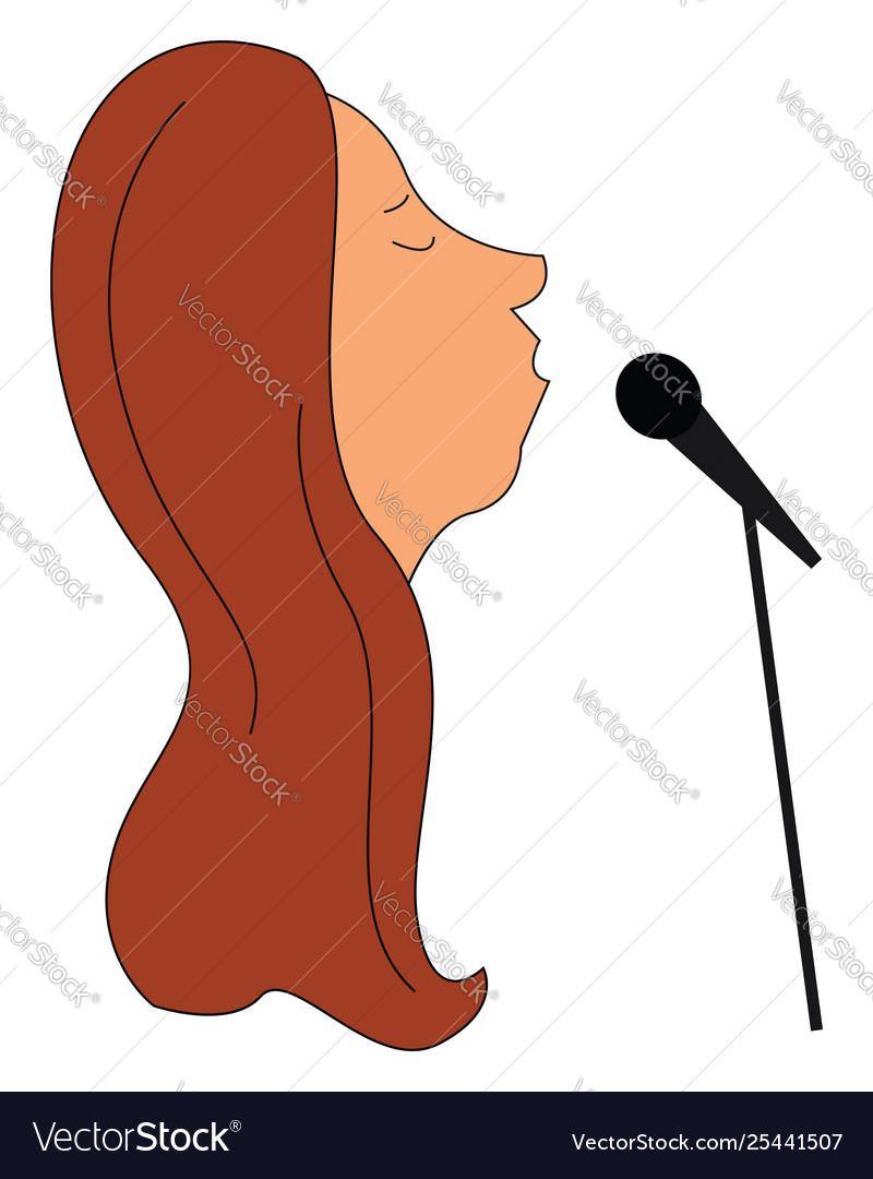 A lady singing clipart png download Clipart face a lady singer or color png download