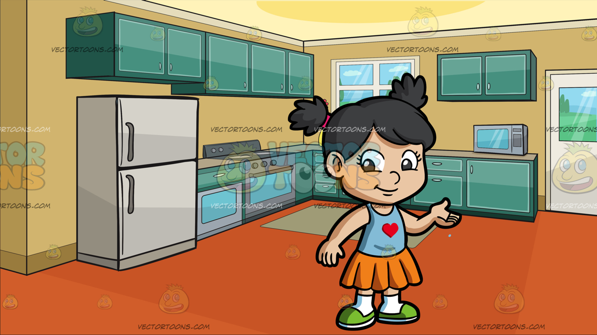 A little girl in the kitchen with her mom clipart jpg library stock An Adorable Little Girl at A Small Apartment Kitchen » Clipart Station jpg library stock