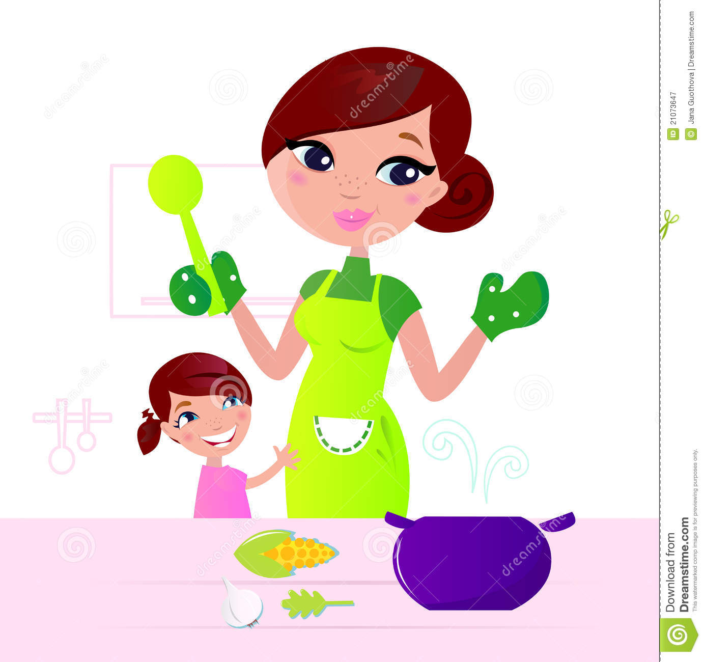 A little girl in the kitchen with her mom clipart jpg freeuse Mother cooking in the kitchen clipart 12 » Clipart Station jpg freeuse