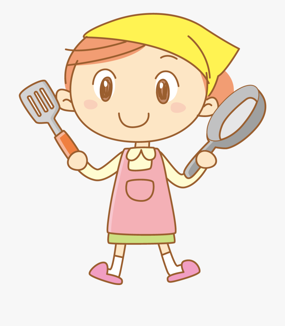 A little girl in the kitchen with her mom clipart svg royalty free stock Cute Little Boy Kitchen - Cooking Girl Cartoon Chef Cute #1789239 ... svg royalty free stock