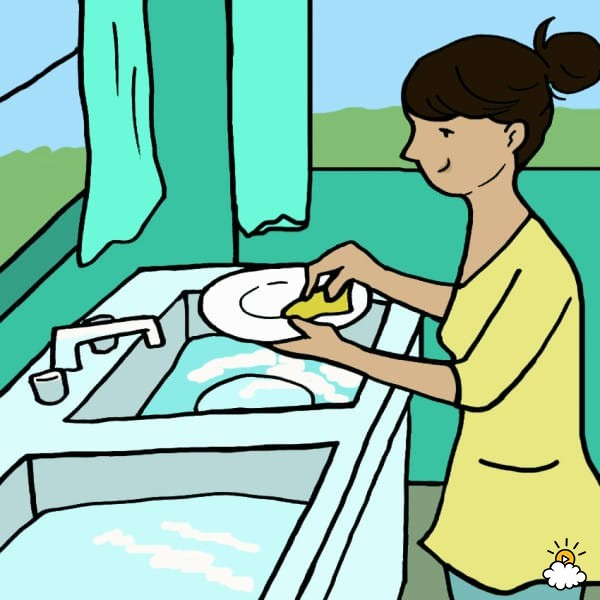 A little girl washing her hands for dinner clipart svg free download 7 Ways Washing Dishes By Hand Can Impact Your Health And Life svg free download