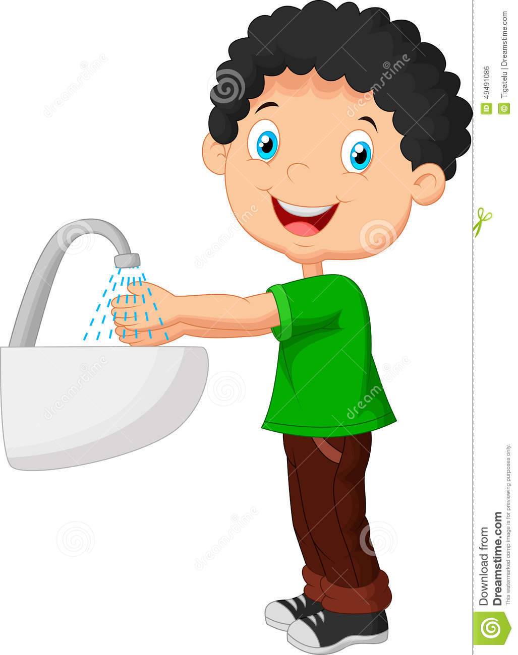 A little girl washing her hands for dinner clipart image freeuse download A little girl washing her hands for dinner clipart, Free Download ... image freeuse download