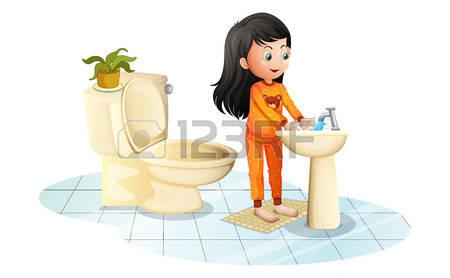 A little girl washing her hands for dinner clipart clipart freeuse stock A little girl washing her hands for dinner clipart, Free Download ... clipart freeuse stock