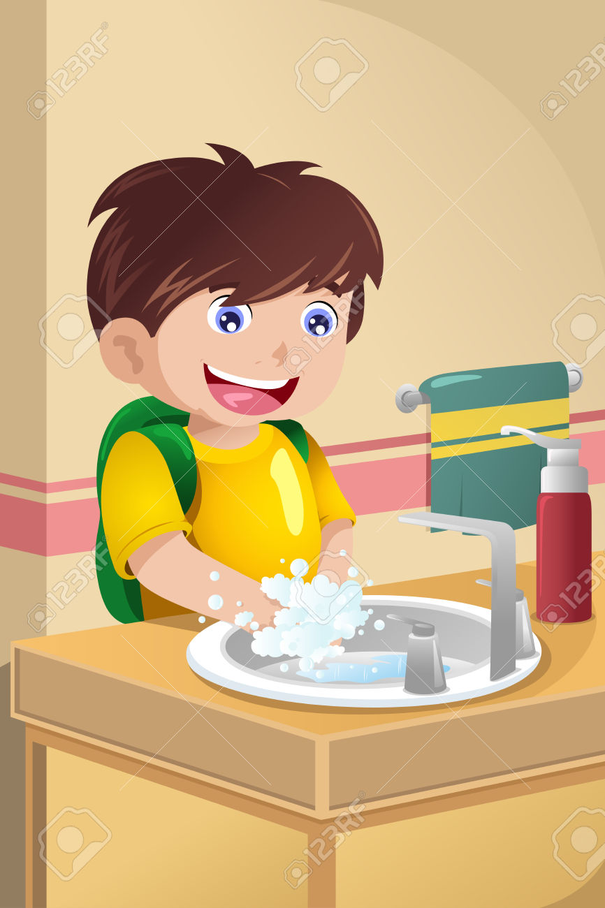 A little girl washing her hands for dinner clipart jpg library download A little girl washing her hands for dinner clipart, Free Download ... jpg library download