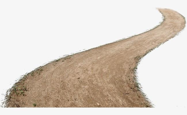 A long drit path clipart