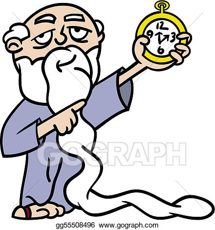 A long time clipart clipart transparent library EPS Vector - Father time pointing at watch. Stock Clipart ... clipart transparent library