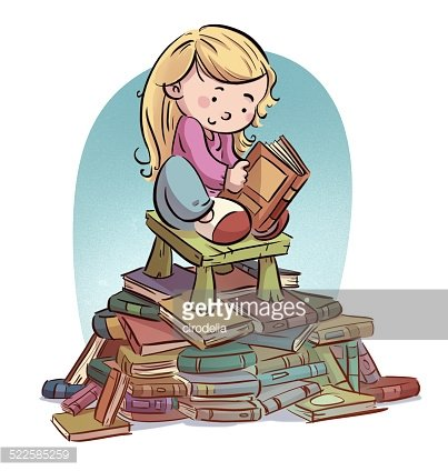 A lot of books clipart picture library library Girl Reading A Lot of Books premium clipart - ClipartLogo.com picture library library