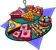 A lot of desserts clipart