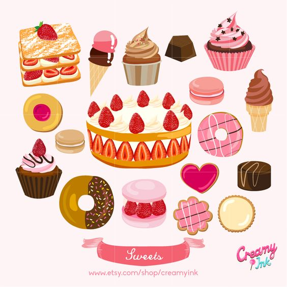 A lot of desserts clipart clip freeuse library Free Dessert Food Cliparts, Download Free Clip Art, Free Clip Art on ... clip freeuse library