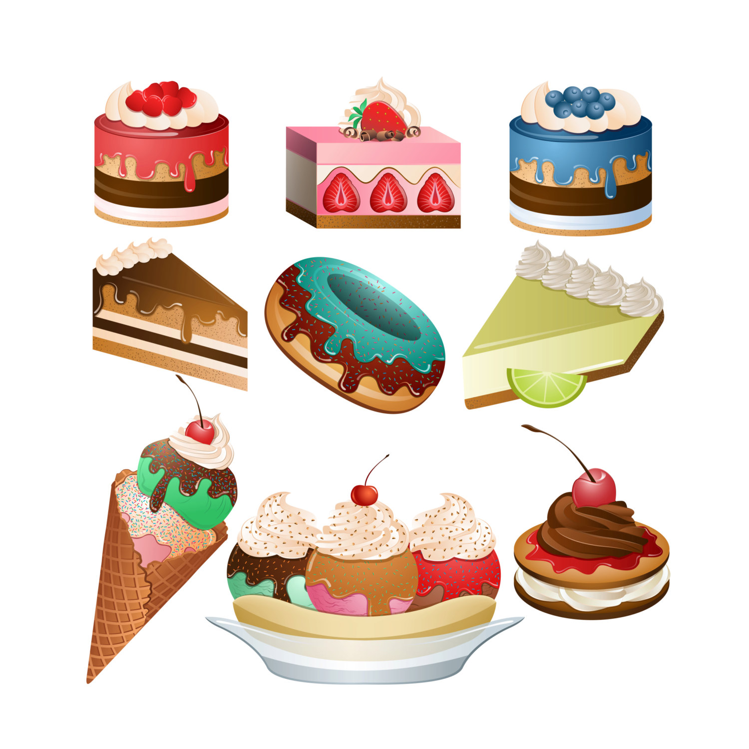 A lot of desserts clipart vector black and white Free Desserts Cliparts, Download Free Clip Art, Free Clip Art on ... vector black and white