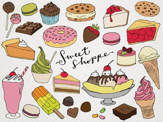A lot of desserts clipart clip art transparent library Desserts Clipart - Sweet Shoppe Clip art, hand drawn clip art, ice ... clip art transparent library
