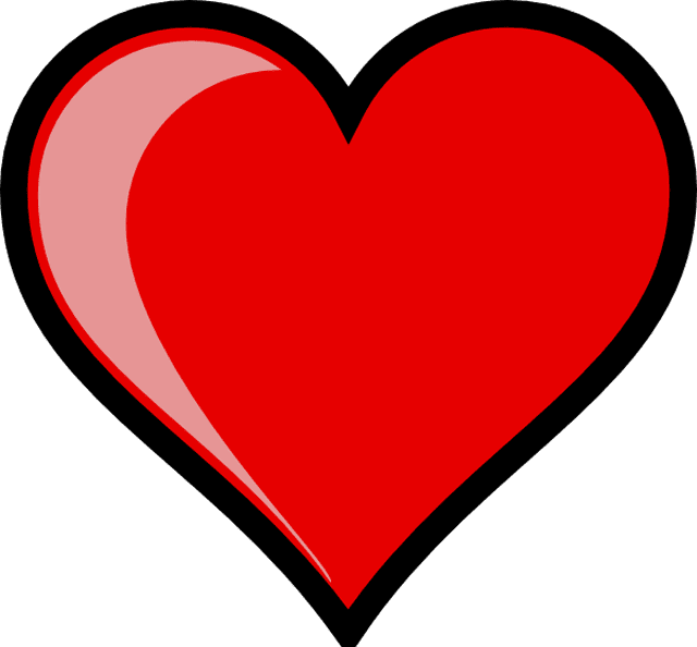 A love heart clipart clip art black and white download Love heart clipart 7 » Clipart Station clip art black and white download