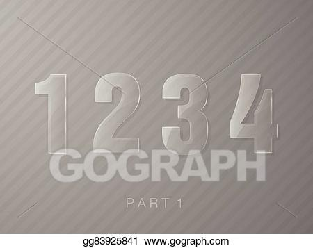 A made with glasses clipart vector free download Vector Illustration - Numbers made of glass, transparent classic ... vector free download