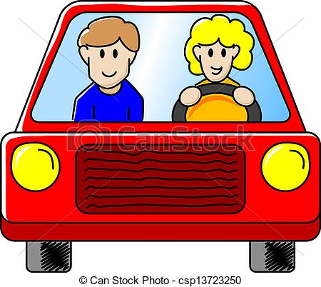 Clipartfest vector of driving. A man and a woman in a car clipart
