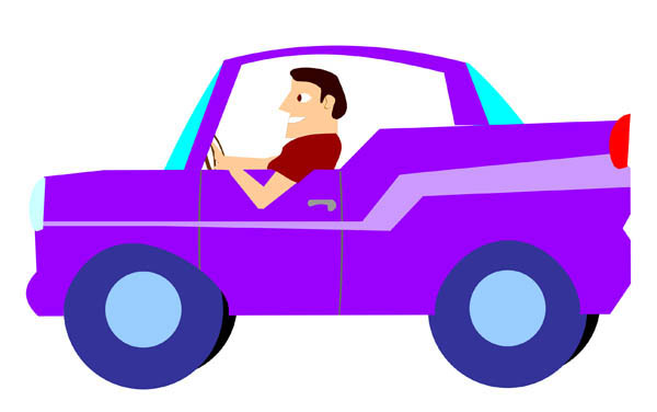 A man and a woman in a car clipart graphic stock Woman in a purple car clipart - ClipartFest graphic stock