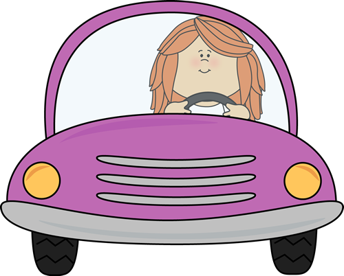 A man and a woman in a car clipart banner black and white library Woman in a purple car clipart - ClipartFest banner black and white library