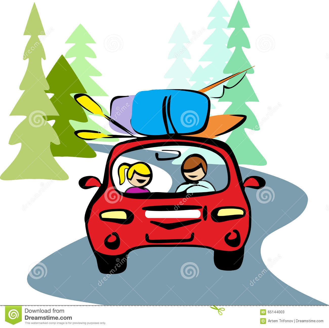 A man and a woman in a car clipart svg free A Man And A Woman In Red Car Driving On A Forest Road To Rest ... svg free