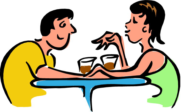 A man and a woman talking clipart - ClipartFest clip transparent library