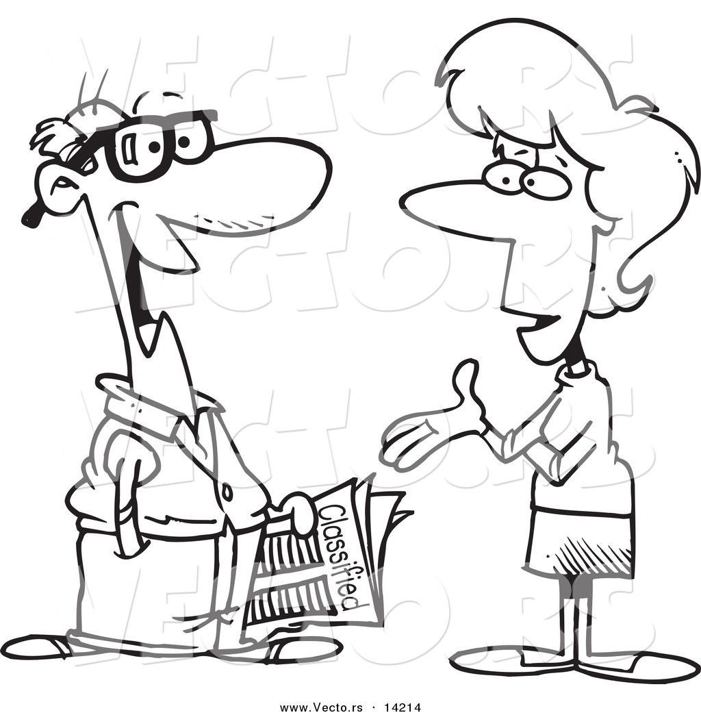 A man and a woman talking clipart clip black and white library Man And Woman Talking Clipart - Clipart Kid clip black and white library