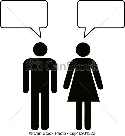 A man and a woman talking clipart. Clipartfest