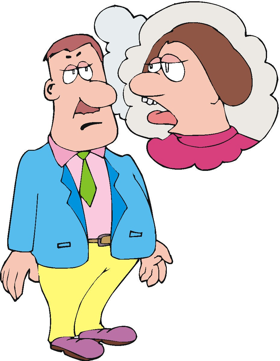 A man and a woman talking clipart clipart transparent Cartoon Of Woman Talking Too Much To Man #zl4g3y - Clipart Kid clipart transparent
