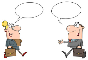 Kid people clip art. A man and a woman talking clipart