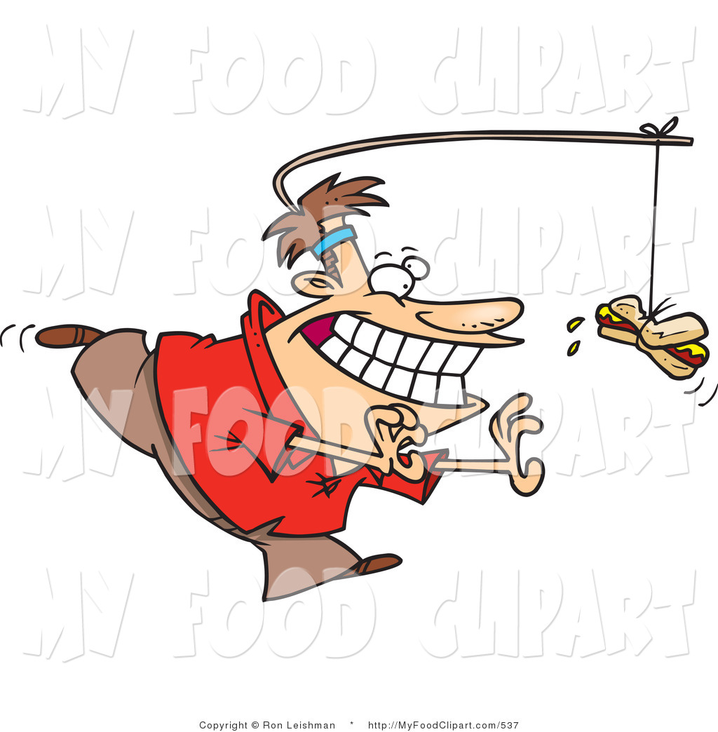 Clipartfest chubby chasing hotdog. A man craving a d clipart