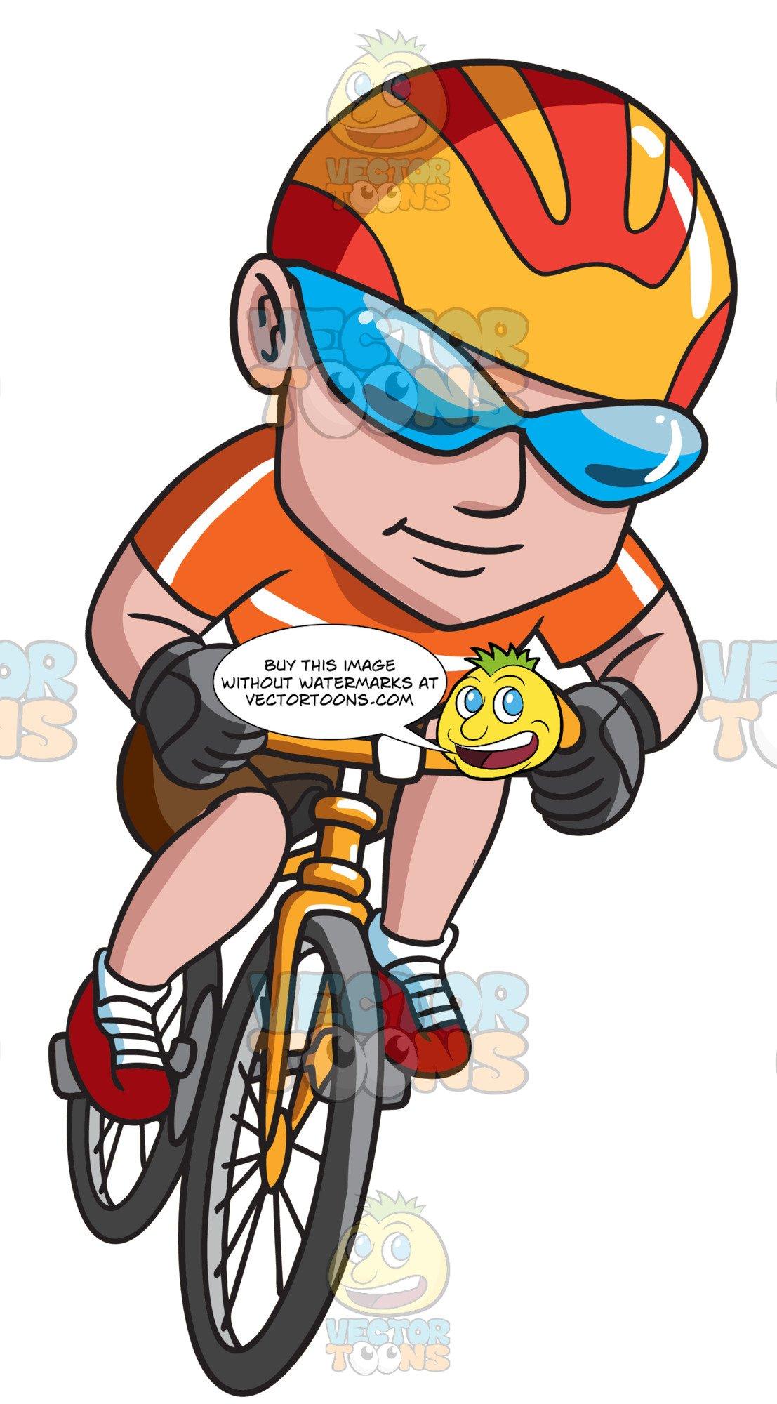 A man driving bike clipart vector download A Happy Man Riding A Bike vector download