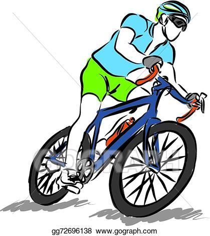 A man driving bike clipart clip freeuse download Vector Art - Man riding a bike sport illustratio. EPS clipart ... clip freeuse download