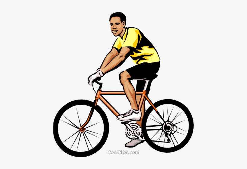 A man driving bike clipart clipart freeuse Man On Bicycle Royalty Free Vector Clip Art Illustration - Man ... clipart freeuse