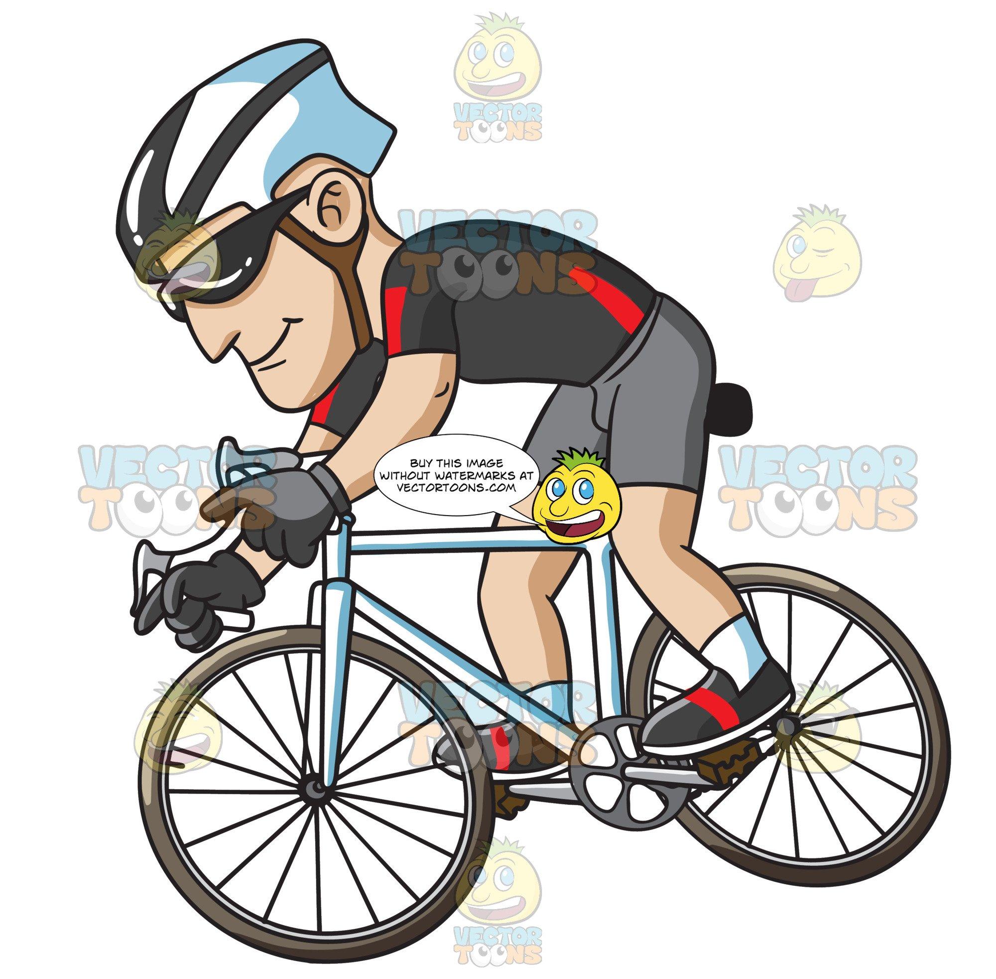 A man driving bike clipart clip transparent stock A Man Riding A Bike For Exercise clip transparent stock