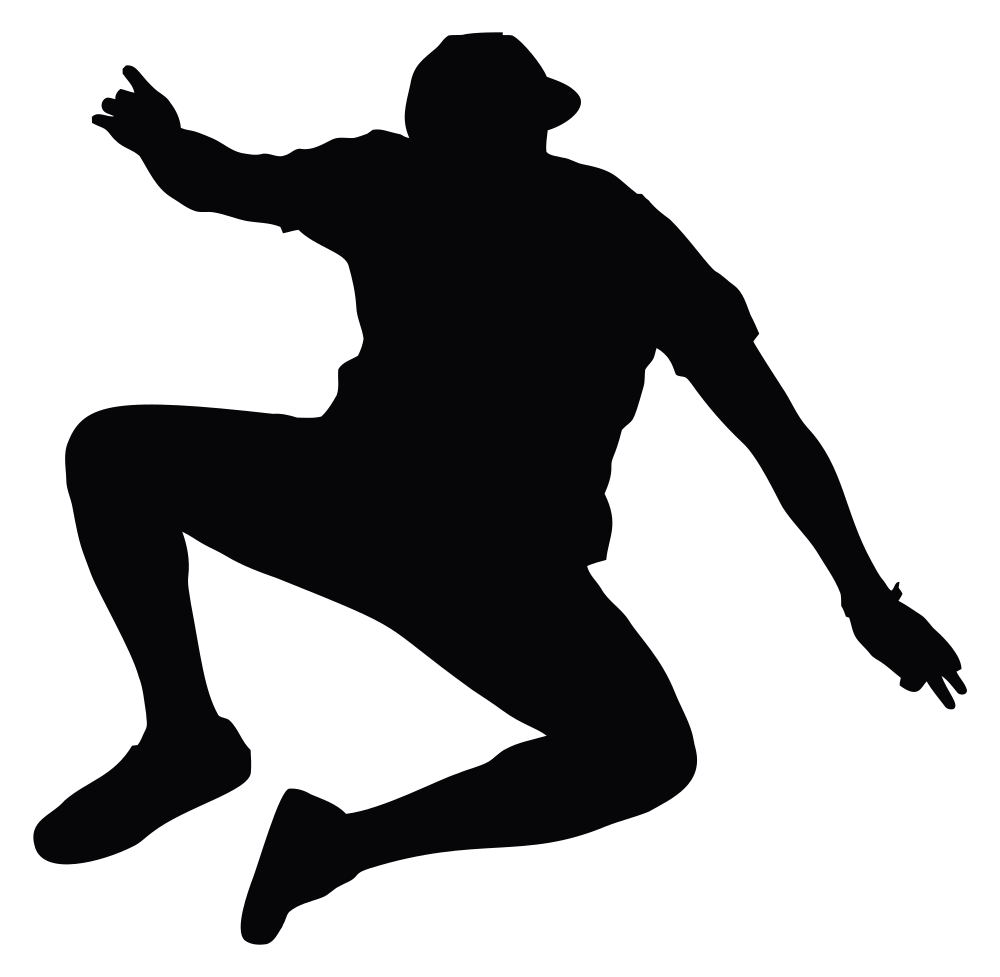 A man jumping clipart svg free stock OnlineLabels Clip Art - Jumping Man Silhouette svg free stock