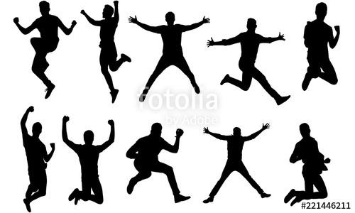 A man jumping clipart vector free library Man Jumping Silhouette, Man Jumping Clipart, SVG, cut file, cricut ... vector free library