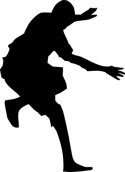 A man jumping clipart clipart freeuse download Man Jumping Silhouette clip art Free vector in Open office drawing ... clipart freeuse download