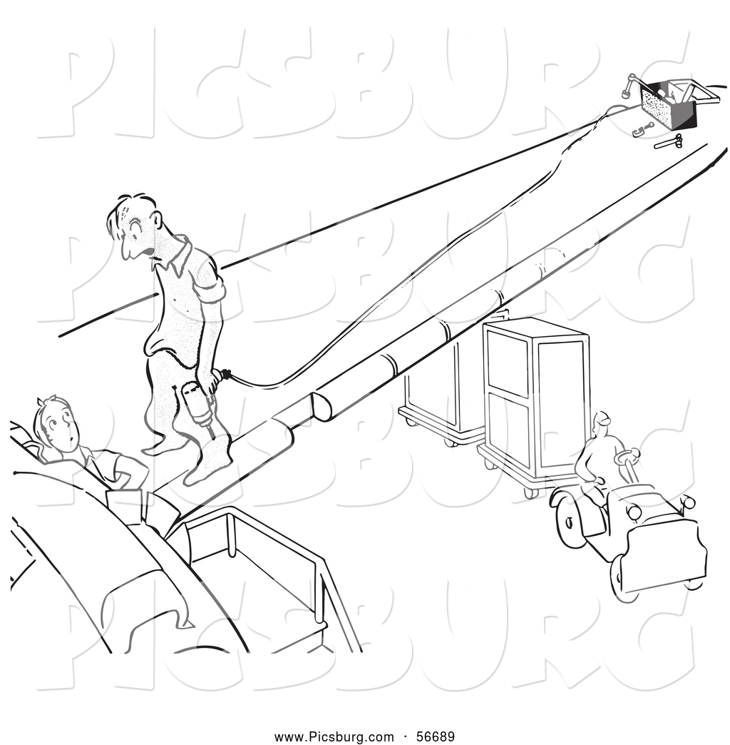 A man work at office clipart for coloring vector black and white Clip Art of a Retro Vintage Worker Man Talking to a Lady Black and ... vector black and white